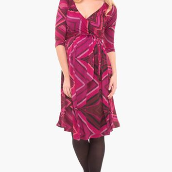Women's Olian Cross Front Maternity Dress,