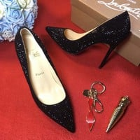 Best Online Sale Christian Louboutin CL 100mm Patent Leather High Heels W10