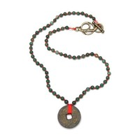Energy Muse Prosperity Necklace with Coin 16.5 Inch