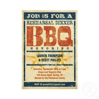 Rehearsal Dinner BBQ Invitations from Zazzle.com