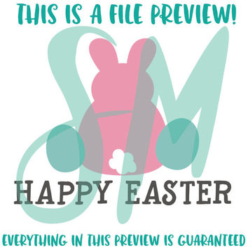 Bunny Silhouette SVG, Easter Bunny SVG, Easter Cut File, Cricut Easter File, Cameo Easter SVG - Vector instant download for craft cutters