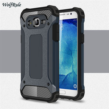 Case For Samsung J7 Cover Slim Plastic + Shockproof Silicone Case For Samsung Galaxy J7 2015 J700 Cover Business Phone Funda [