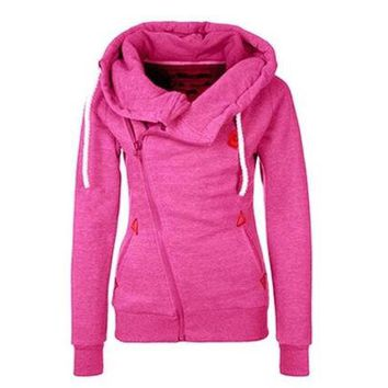 VLX2WL WAQIA 2015 new European sports personality side zipper hooded cardigan sweater jacket [8940809671]