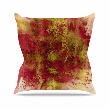 "Ebi Emporium ""Epoch 4"" Red Green Outdoor Throw Pillow"