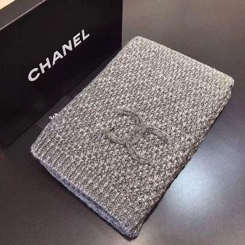 Chanel Trending Ladies Cashmere Warm Winter Knit Cape Scarf Scarves Accessories I