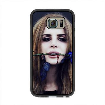 Lana Del Rey Rose On Her Lips Supreme Samsung Galaxy S6 Case