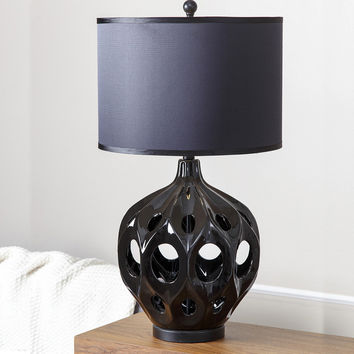 The new Chinese modern minimalist European American ceramic table lamp creative personality living room bedroom bedside lamp decorative lamps
