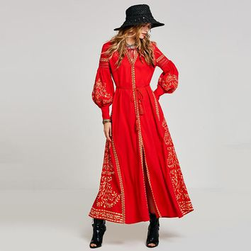 Red Moroccan Nights Dress