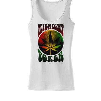 Midnight Toker Marijuana Womens Tank Top