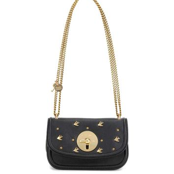 Lois Mini embellished leather shoulder bag