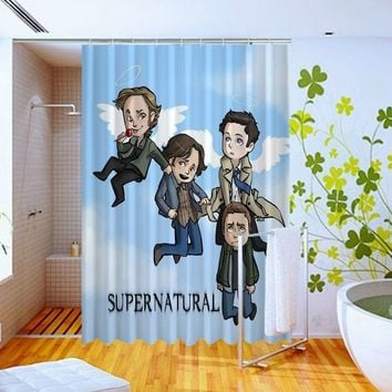 Supernatural Funny Art Movie Film Pattern Art Custom Design Shower Curtain 60x72