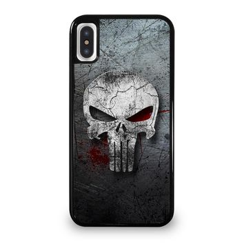 THE PUNISHER SKULL METAL iPhone 5/5S/SE 5C 6/6S 7 8 Plus X/XS Max XR Case Cover