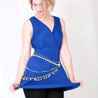 Belted Crossover Tunic