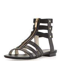 Codie Leather Gladiator Sandal, Black - MICHAEL Michael Kors