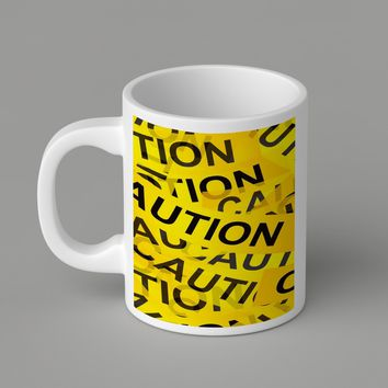 Gift Mugs | Caution Yellow Tape  For   Ceramic Coffee Mugs