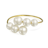 Bling Jewelry Pearly Open Cuff