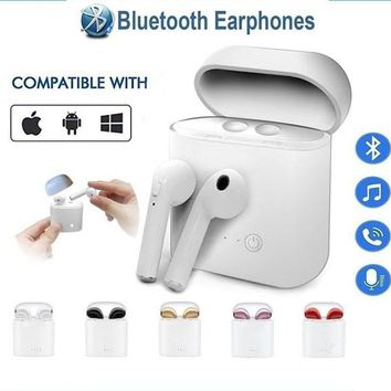 I7S TWS Mini Bluetooth Earphones Wireless Headset Sports In-ear Stereo Earbuds with Charging Case for Phone