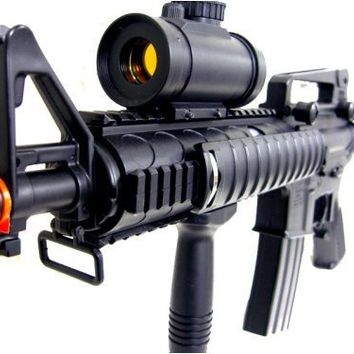 BBTac M4 M16 Replica Airsoft Gun M83 A2 Electric Rifle Full Automatic Semi w/ Red Dot Scope Tactical AEG