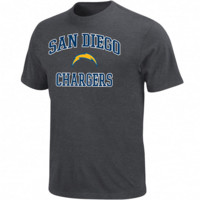 San Diego Chargers Heart and Soul T-Shirt - Charcoal