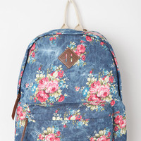 Urban Outfitters - Steve Madden Floral Acid Patch Backpack