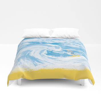 Surfer Duvet Cover by Berwies