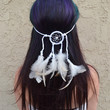 All White Dreamcatcher Headband