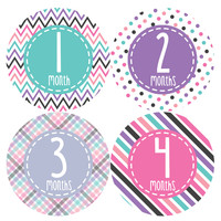 Baby Girl Monthly Baby Stickers Style #363