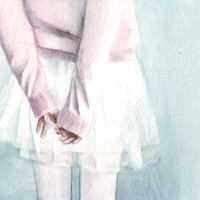 Original watercolor painting of Ballerina Legs art