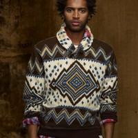 Printed Shawl-Collar Pullover - Shawl & Turtleneck   Sweaters - RalphLauren.com