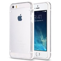 Pandamimi ULAK(TM) Ultra-Thin Clear Hard Case For Apple iPhone 5S 5 with Screen Protector and Stylus (White)