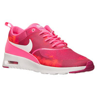 Nike Air Max Thea Print Shoes - Pink Pow / White / Fireberry - Bedazzled with 100% Authentic Swarovski Crystals