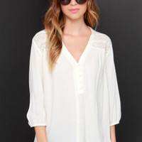 Sent From Above Cream High-Low Top