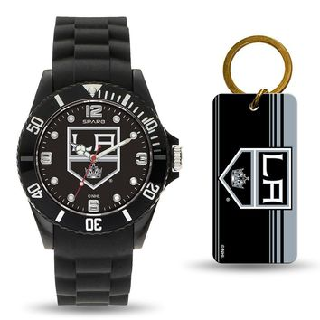 Los Angeles Kings NHL Watch and Keychain Gift Set