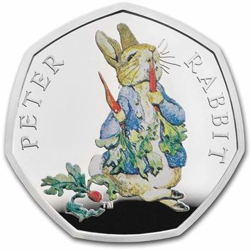 2018 Great Britain Silver 50p Beatrix Potter Proof (Peter Rabbit)