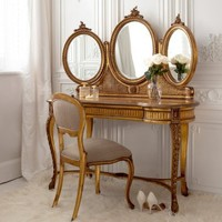 Versailles Gold Dressing Table  |  Dressing Tables  |  Tables  |  French Bedroom Company