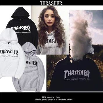 Thrasher Cotton Hoodie Sweater S Xxl
