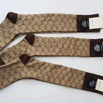 VONE05T9 GUCCI GG pattern cotton blend socks