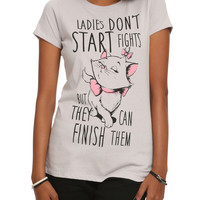 Disney The Aristocats Marie Ladies Don't Start Fights Girls T-Shirt