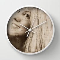 The Song In Your Heart Wall Clock by Louisa Catharine Forsyth