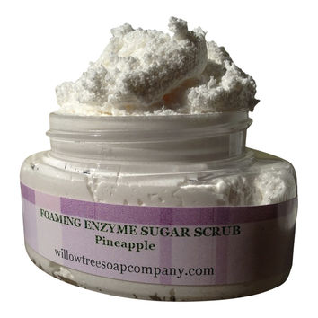 Foaming Pineapple Enzyme Sugar Facial Scrub
