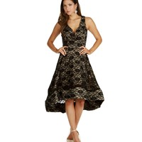 Black Tea Cup Party Dress