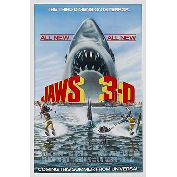 Jaws 3-D 27x40 Movie Poster (1983)