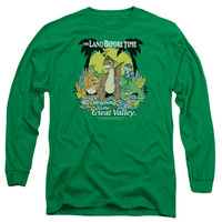 Land Before Time Great Valley Kelly Green Long-Sleeve T-Shirt
