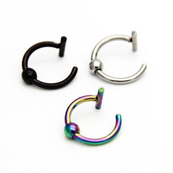 ac DCCKO2Q ZLDYOU Nostril Stainless Nose Hoop Nose Rings Clip On Labret Lip Rings Ear Body Fake Piercing Jewelry For Women Men