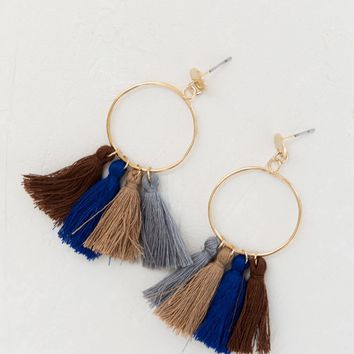 Samba Fringe Earrings - Natural Combo