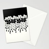 Hibiscus Bead Curtain: Positive Negative Stationery Cards by Eileen Paulino