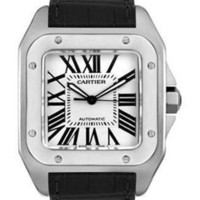 Lussotime - Cartier Santos 100 Large Stainless Steel Men's Watch - W20073X8