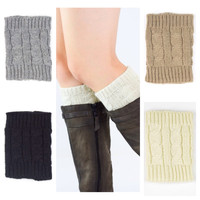 Cute Cable Knit Boot Toppers, Boot Cuffs