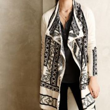 Embroidered Ceycen Cardigan by Biya Neutral Motif