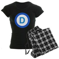 Democrat Women's Dark Pajamas on CafePress.com